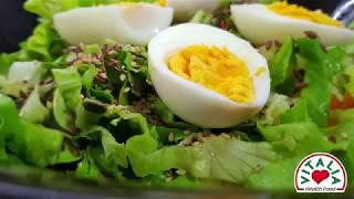 Vitalia healthy food - Свежа салата со семиња и јајца (high protein, GMOfree)