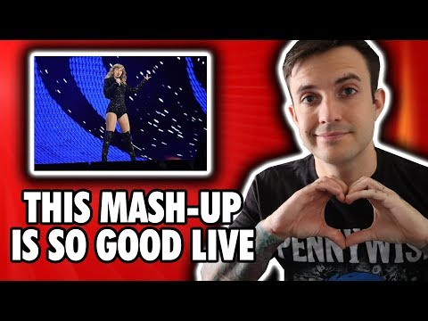Taylor Swift - Style/Love Story/You Belong With Me Mash Up Reputation Tour REACTION