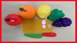 사과, 오렌지, 레몬, 피망, 포도, 도마, 칼 등으로…