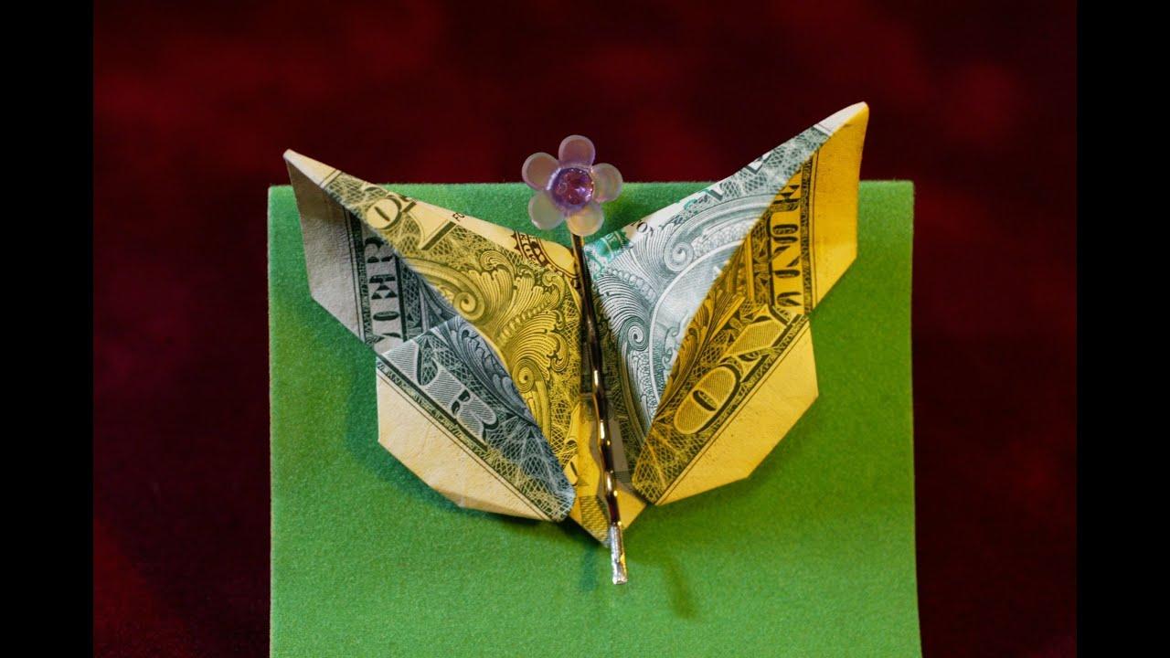 Dollar Origami: Elegant Butterfly - YouTube - photo#15