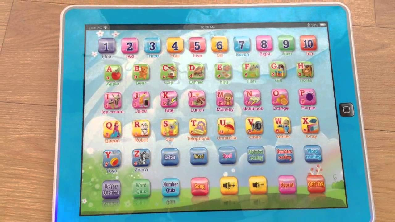 Kids Learning Tablet >> Tablet Pc Kids Learning Machine Touch Type With Light Youtube