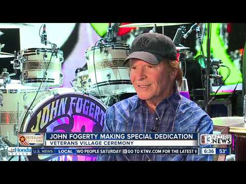 Jodi Stewart - John Fogerty Dedicates the Proud Mary Container Home to Veterans In Need