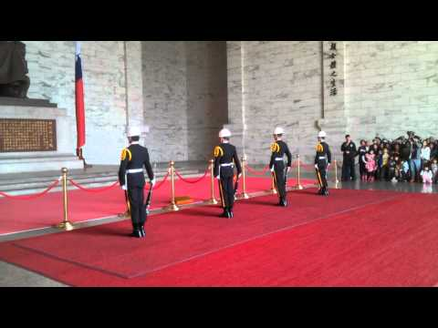 Change of Guards at Chiang Kai-shek Memorial Hall, filmed by Gooddealsonoffer.co.uk March 2012