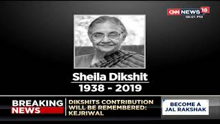 Sheila Dikshit's Mortal Remains To Arrive At Her Residence