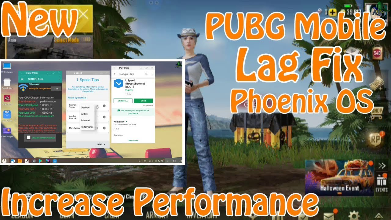 Phoenix OS PUBG Mobile Lag , Glitch , Bug Fixing Tutorial - Increase  Performance