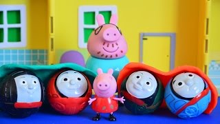 Peppa Pig Full Episode Sleepover With Thomas And Friends Play-Doh Blankets