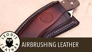 Using an Airbrush for Leatherwork or Other Crafts