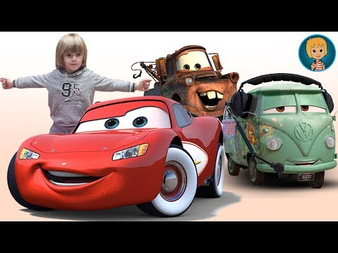 Lightning McQueen And Hot Wheels Cars Driving (Gertit ToysReview)
