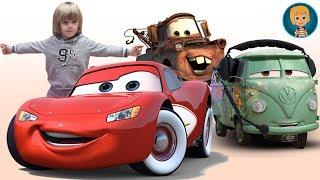 Disney Cars Lightning McQueen - Play-doh Frozen Elsa and Anna Olaf
