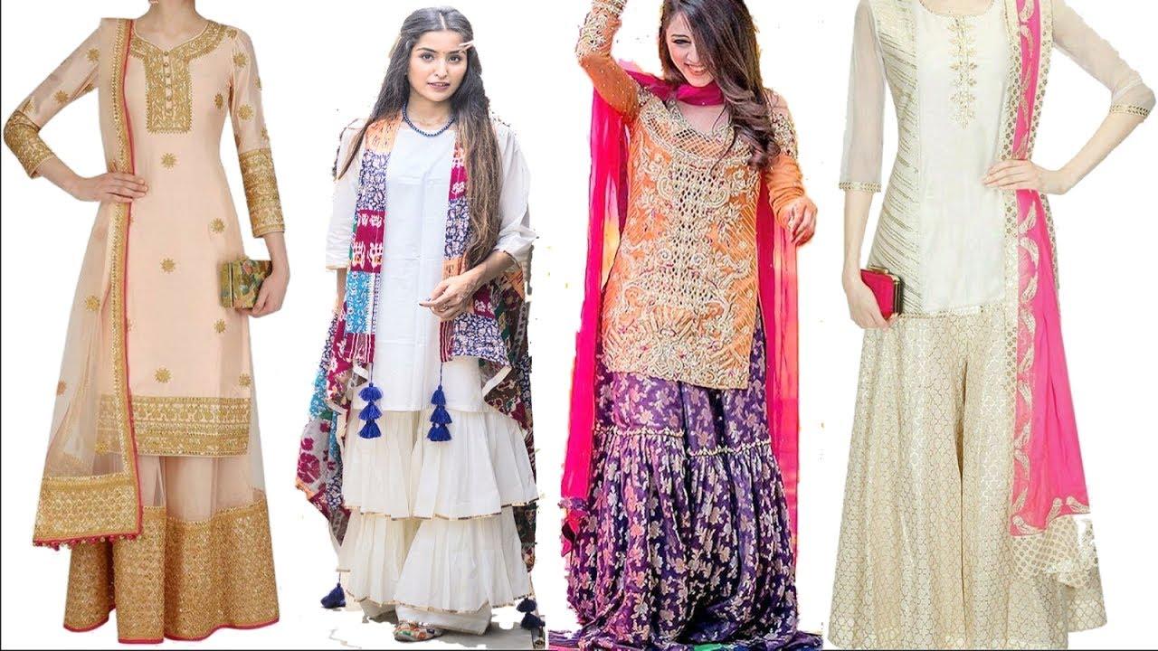 826708e093 Latest sharara designs for girls / best & designer bridal sharara ...
