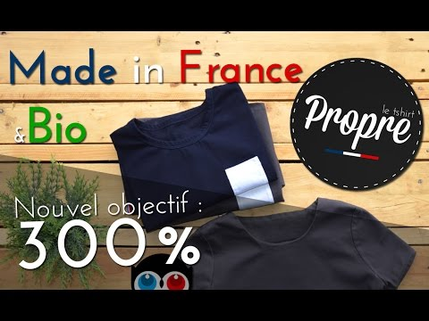 Le t-shirt Propre, t-shirt Made in France & Bio chez Ulule !