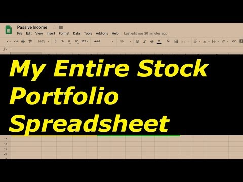 My Entire Stock Portfolio Spreadsheet! (October 2018)