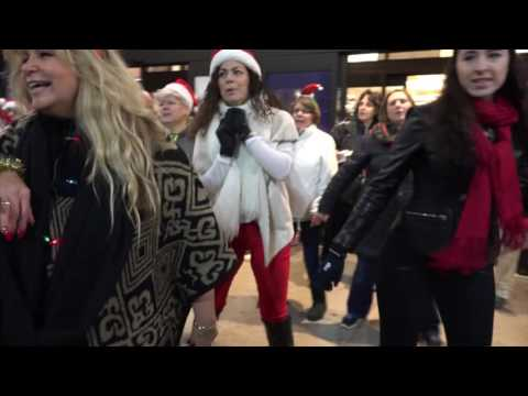 """All I Want for Christmas"" ~ Flash Mob Karaoke ~ Hudson Valley Mall Kingston NY 12-23-16"