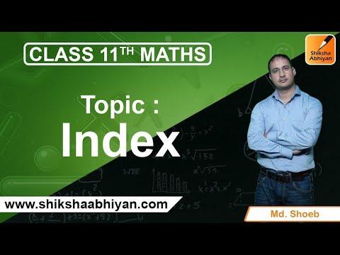 Sets - Index - #CBSE Class 11 Maths