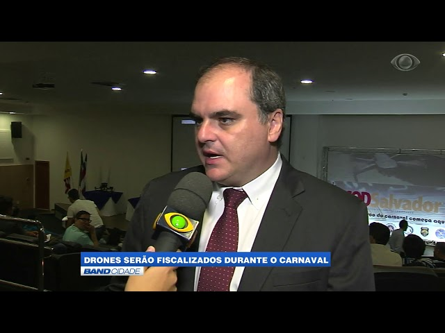 Band Cidade - Polícia Militar fiscaliza voos de drones durante o carnaval de Salvador