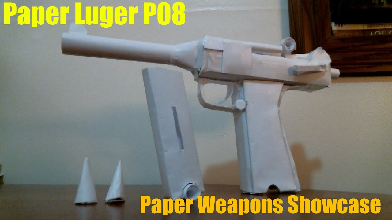 how to make a pistol with paper
