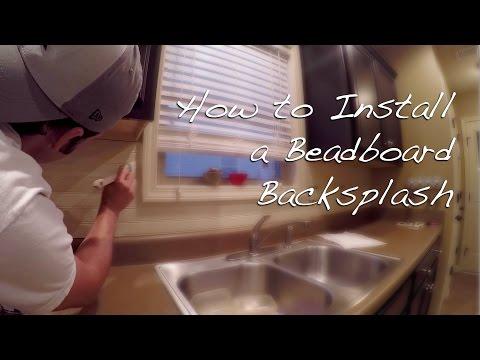 How to Install a Beadboard Backsplash