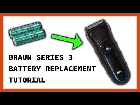 Braun Series 3 350cc-4 Disassembly (battery Replacement) - See Description For Replacement Parts