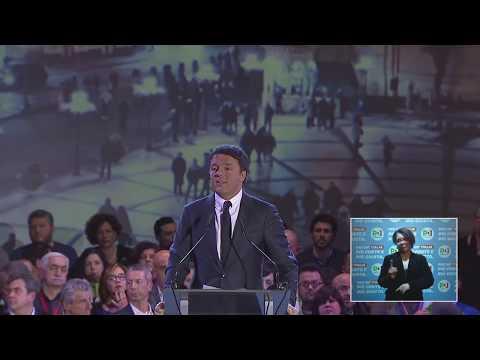 La chiusura della campagna elettorale di Matteo Renzi da Firenze