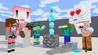 Monster School: BOYS VS GIRLS BOTTLE FLIP CHALLENGE - Minecraft Animation
