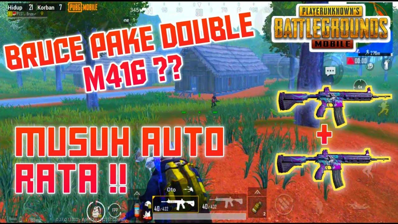 RATAKAN MUSUH DI SANHOK PAKE DOUBLE M416 ! | SOLO VS SQUAD | PUBGMOBILE