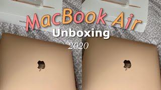 Gold Macbook Air Unboxing 2020 | Jadexoxos