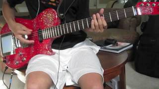 [MUSE HD Guitar Cover] Supermassive Black Hole - Manson Red Glitter/Glitterati Replica