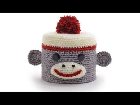Sock Monkey Amigurumi Crocheted Toilet Paper Cover Youtube