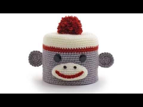 Sock Monkey Amigurumi Crocheted Toilet Paper Cover Youtube