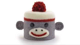 Sock Monkey ~ Amigurumi Crocheted Toilet Paper Cover