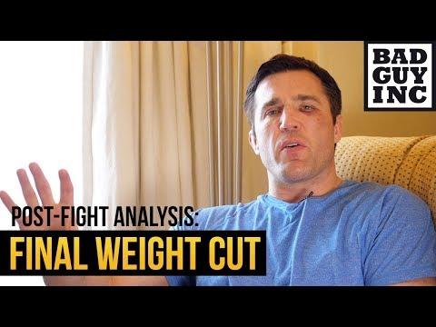 My final weight cut...