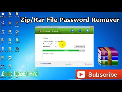 How to crack a password protected zip file in windows 7