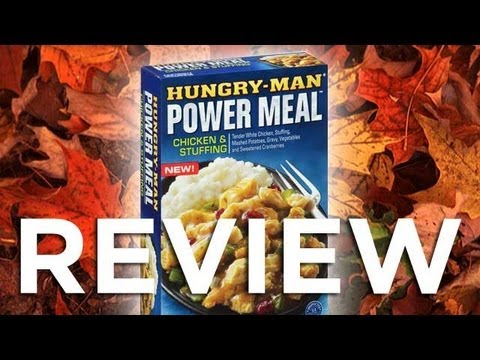 Hungry-Man Power Meal Chicken Stuffing Video Review Freezerburns (Ep541)