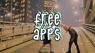 FREE UNDERRATED EDITING APPS
