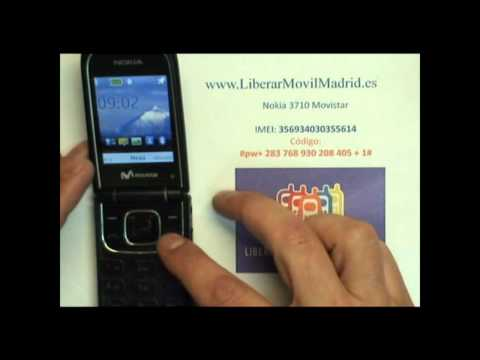 Liberar Nokia 3710 Movistar por Código IMEI - www.LiberarMovilMadrid.es