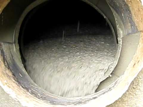 A View Inside A Readymix Concrete Drum