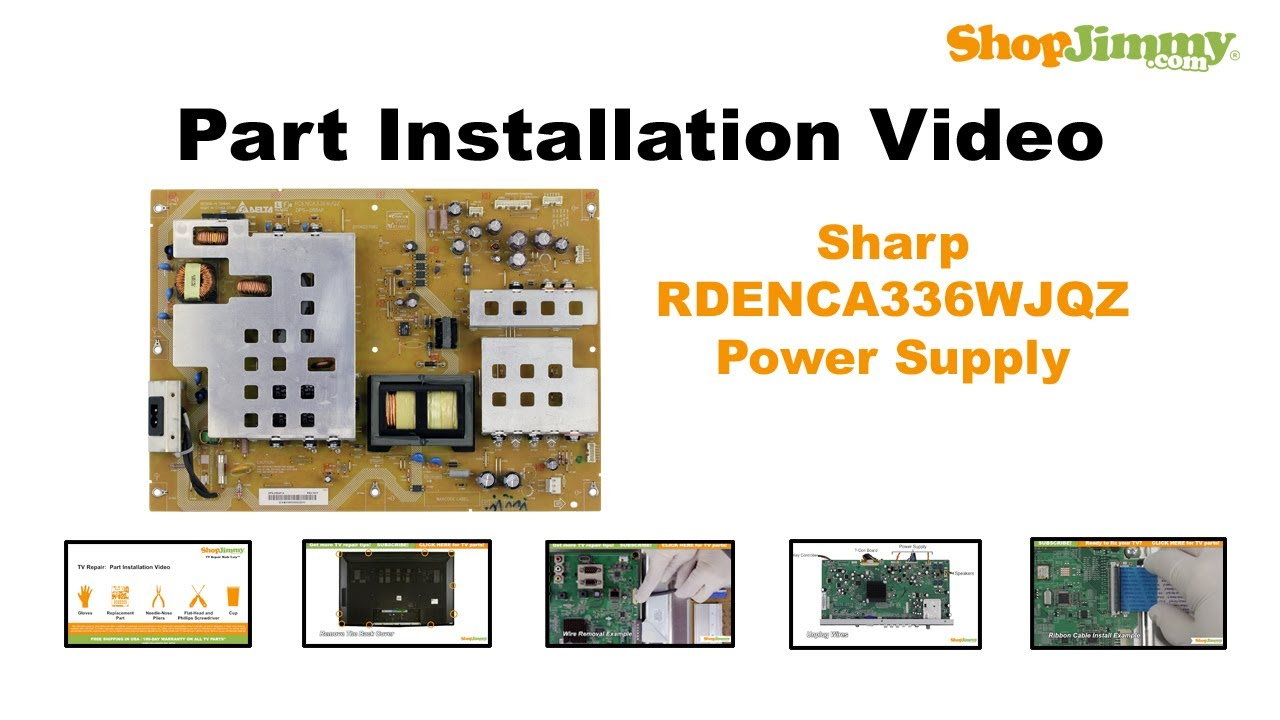 LCD TV REPAIR TV WILL NOT TURN ON - Sharp TV Power Supply Board ...