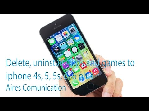 How to delete apps in iphone 5c