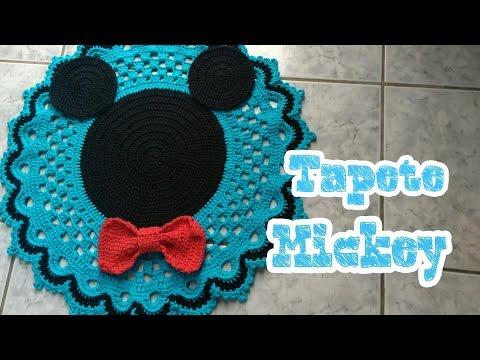 #Tapete Mickey jogo de banheiro