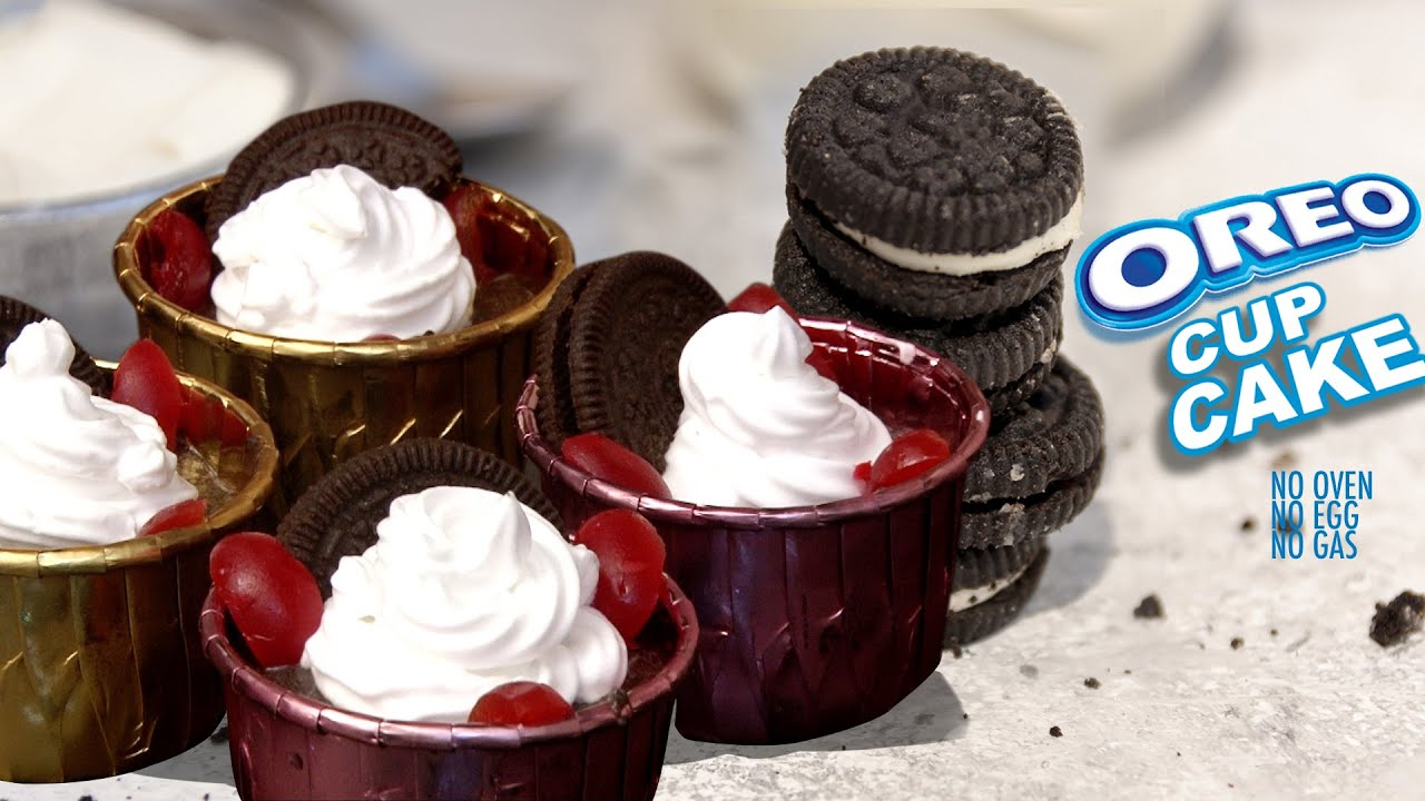 NO BAKE OREO CUP CAKE | Oreo Cupcakes Only 3 Ingredients ...