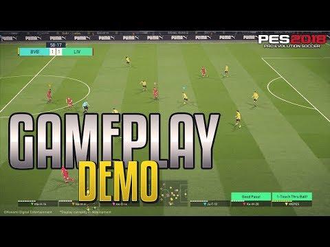 PES 2018 - GAMEPLAY DEMO - CONFERÊNCIA E3 AO VIVO #PESTeamBR