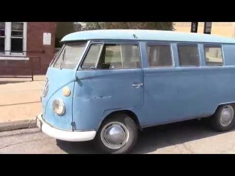 VW Split Window Bus at Idle and Driving