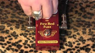 Mad Professor Fire Red Fuzz PCB demo with Gibson Les Paul Custom