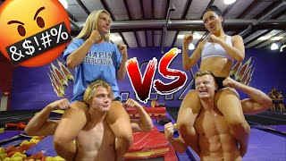 COUPLES VS COUPLES ULTIMATE GYMNASTICS CHALLENGE!