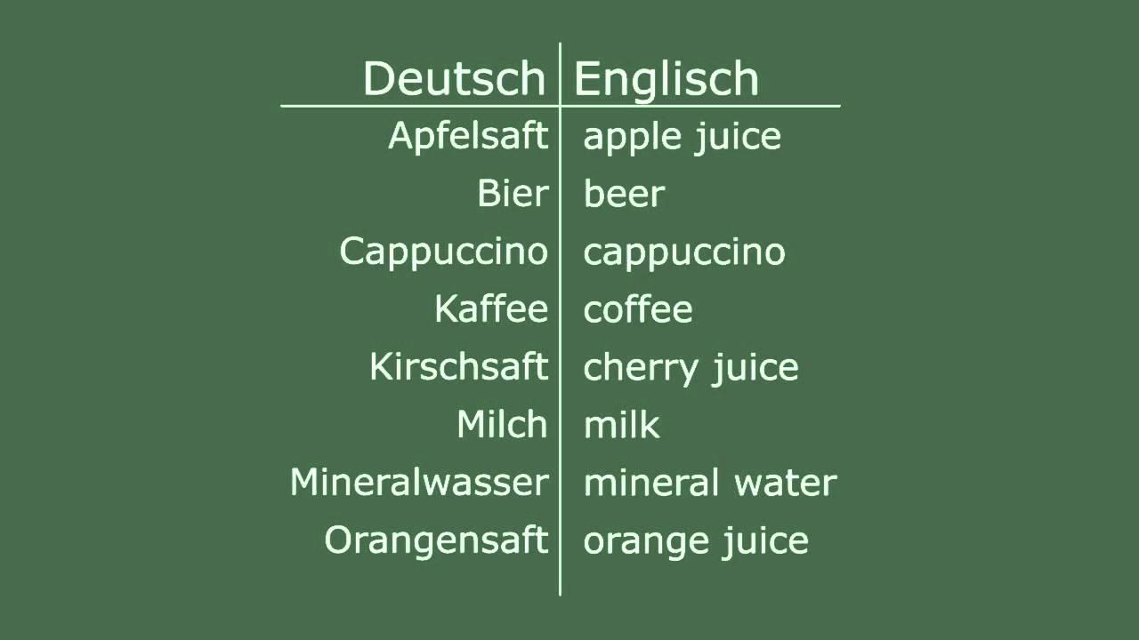 Englisch lernen - Getränke - YouTube