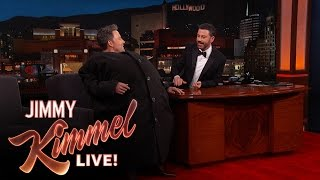 "ben affleck sneaks matt damon onto ""jimmy kimmel live"