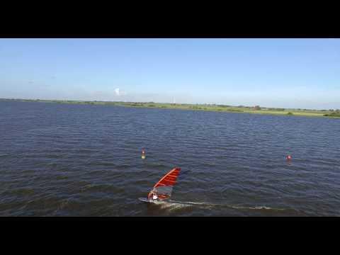 Drone windsurfing slotermeer