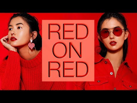 RED ON RED - Shooting A Color Matching Editorial