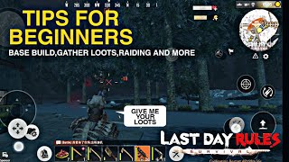 Tips For Beginners (Last Day Rules Surviva)