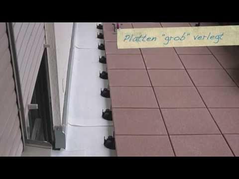 balkonaufbau fliesen legen mit drainage abdichtung und. Black Bedroom Furniture Sets. Home Design Ideas